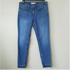 Calvin Klein Cropped Ankle Skinny Jean, Sz 10x25.5